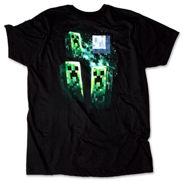 Minecraft tričko Three Creeper Moon Premium Tee - black